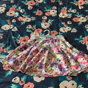Flower pattern skirt